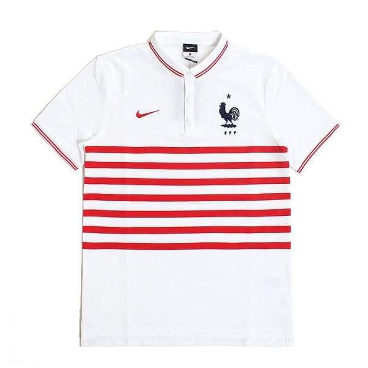 Polos / Short Sleeve: Nike National Team 2014 France Authentic Polo S/s 598260-100 - Nike / S / White / 2014 Clothing Fans Wear Football