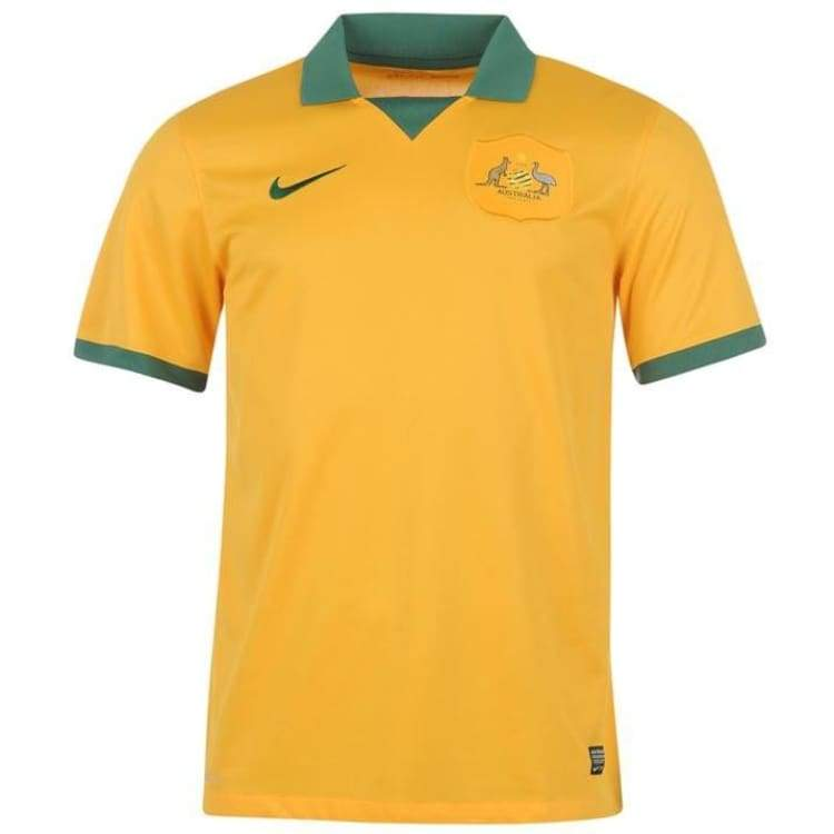 Jerseys / Soccer: Nike National Team 2014 World Cup Australia (H) S/s 578177-702 - S / Nike / 2014 Australia Clothing Football Home Kit |