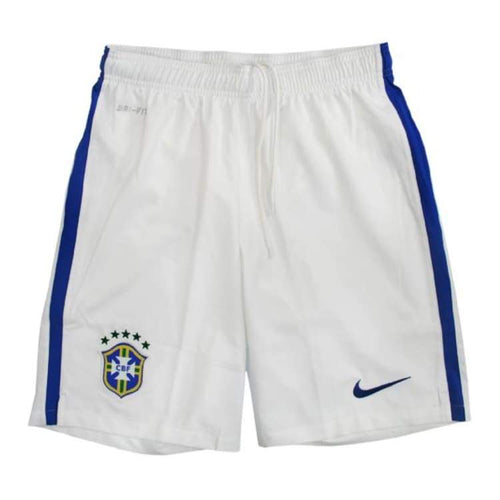 Shorts / Soccer: Nike National Team 2014 World Cup Brazil (A) Stadium Short 575285-105 - Nike / S / White / 2014 Away Kit Brazil Brazil
