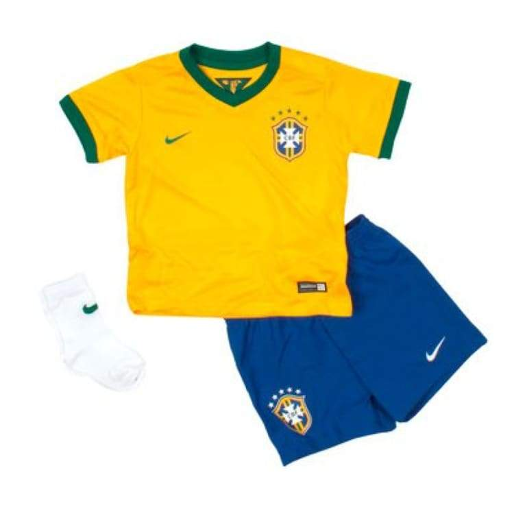 Jerseys / Soccer: Nike National Team 2014 World Cup Brazil (H) S/s Infants Set 575303-703 - Month: 9-12 / Yellow / Nike / 2014 Brazil Brazil