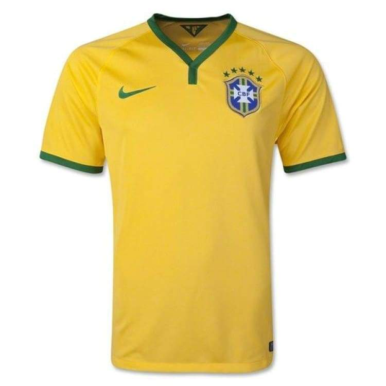 Jerseys / Soccer: Nike National Team 2014 World Cup Brazil (H) S/s Jersey 575280-703 - Nike / S / Yellow / 2014 Brazil Brazil (World Cup)