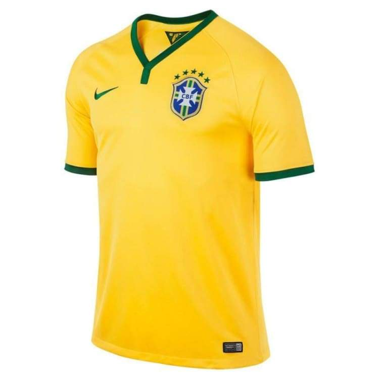 Jerseys / Soccer: Nike National Team 2014 World Cup Brazil (Home) Match S/s Jersey 575276-703 - Nike / L / Yellow / 2014 Brazil Brazil