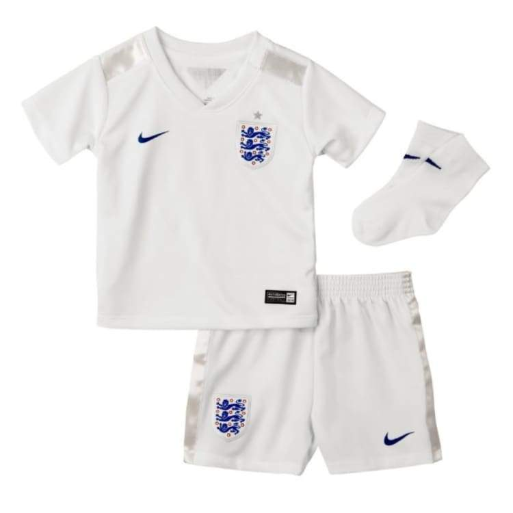 Jerseys / Soccer: Nike National Team 2014 World Cup England (H) S/s Kid Set 588091-105 - Nike / Month: 3-6 / White / 2014 Clothing England