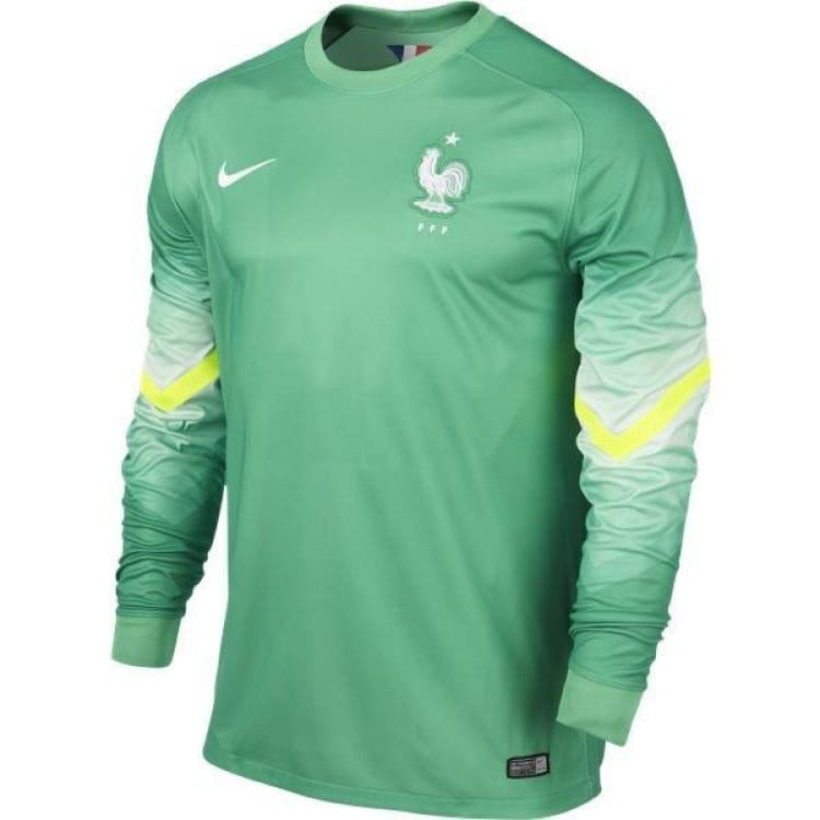 Jerseys / Soccer: Nike National Team 2014 World Cup France (H) Gk S/s Jersey 577938-330 - Nike / S / Green / 2014 Clothing France France