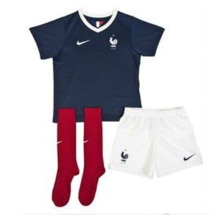 Jerseys / Soccer: Nike National Team 2014 World Cup France (H) Kid Set 577914-410 - Nike / Kids: Xs / Navy / 2014 Clothing Football France