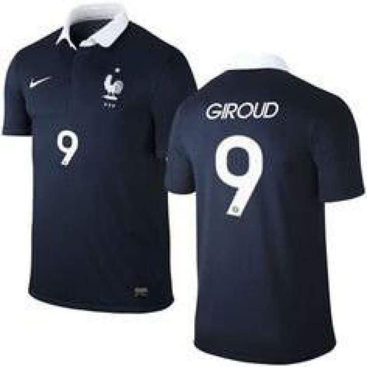 Jerseys / Soccer: Nike National Team 2014 World Cup France (H) S/s (With Nameset) 577926-410 - Xl / Navy / Nike / 2014 Clothing Football