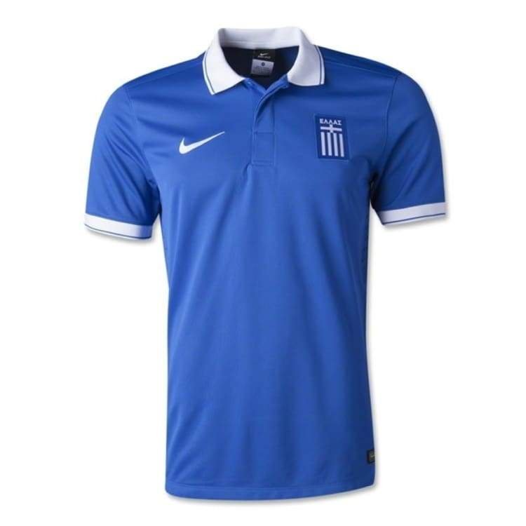 Jerseys / Soccer: Nike National Team 2014 World Cup Greece (A) S/s Player Jersey 647739-463 - S / Blue / Nike / 2014 Blue Clothing Football