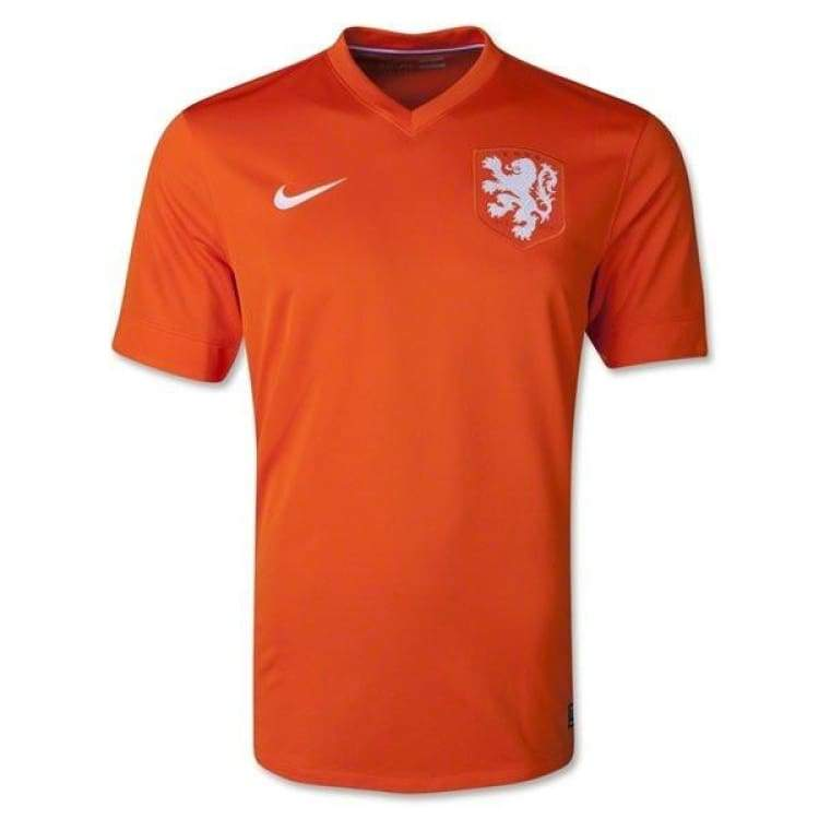 Jerseys / Soccer: Nike National Team 2014 World Cup Netherlands (H) S/s 577962-815 - Nike / S / Orange / 2014 Clothing Football Home Kit