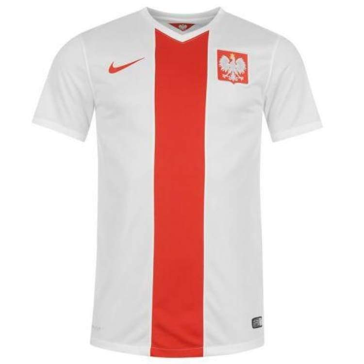 Jerseys / Soccer: Nike National Team 2014 World Cup Poland (H) S/s 578322-105 - Nike / S / White / 2014 Clothing Football Home Kit Jerseys |