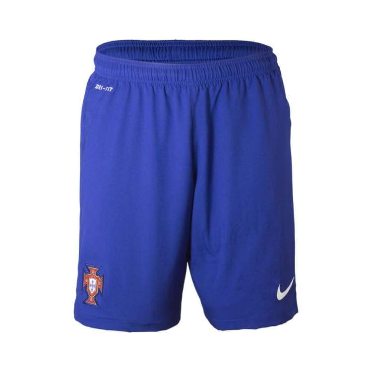 Shorts / Soccer: Nike National Team 2014 World Cup Portugal (A) Stadium Short 577988-460 - Nike / S / Blue / 2014 Away Kit Blue Clothing