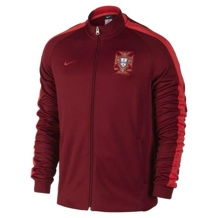 Jackets / Track: Nike National Team 2014 World Cup Portugal N98 Auth Jacket - Nike / 2Xl / Red / 2014 Clothing Football Jackets Jackets /