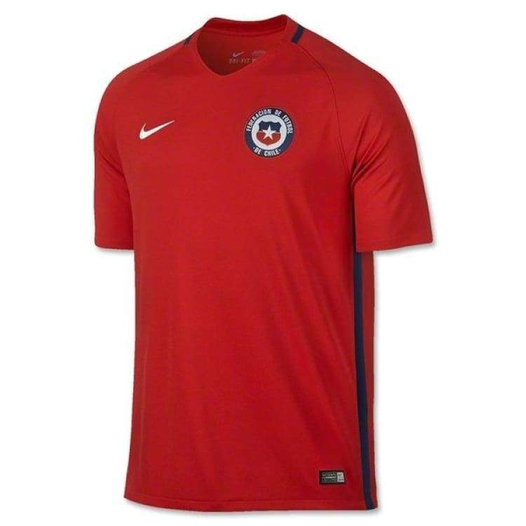 Jerseys / Soccer: Nike National Team 2016 Chile (Home) S/s Jersey - S / Nike / Red / 2016 Chile Clothing Football Home Kit |