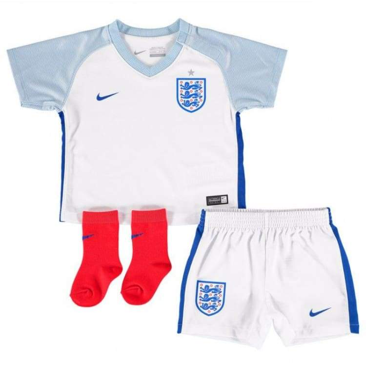 Jerseys / Soccer: Nike National Team 2016 England (H) Baby Kit 724568-100 - Nike / Month: 9-12 / White / 2016 Clothing England England