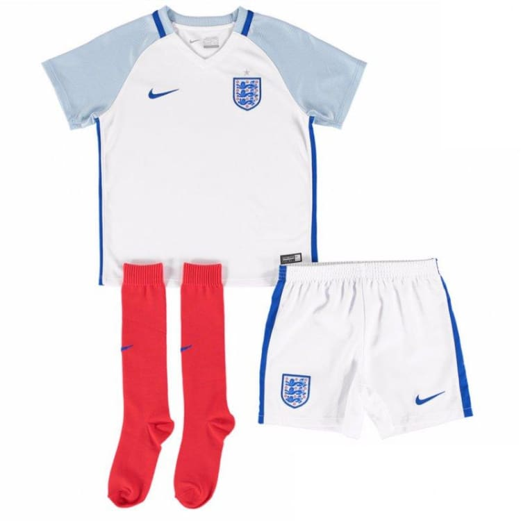 Jerseys / Soccer: Nike National Team 2016 England (H) Littleboys Kit 724576-100 - Nike / Kids: S / White / 2016 Boys Clothing England