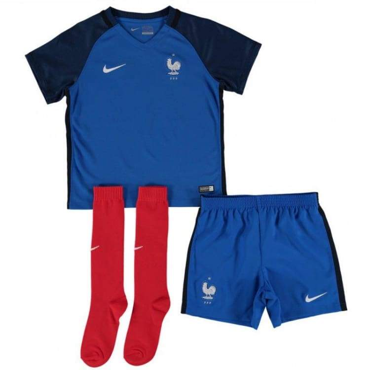 Jerseys / Soccer: Nike National Team 2016 France (H) Little Boys Kit 724579-439 - Nike / Kids: L / Blue / 2016 Blue Clothing Football France
