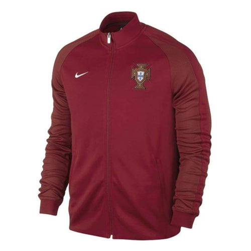 Jackets / Track: Nike National Team 2016 Portugal Authentic N98 Track Jacket 727866-687 - Nike / S / Red / 2016 Clothing Cr7 Football