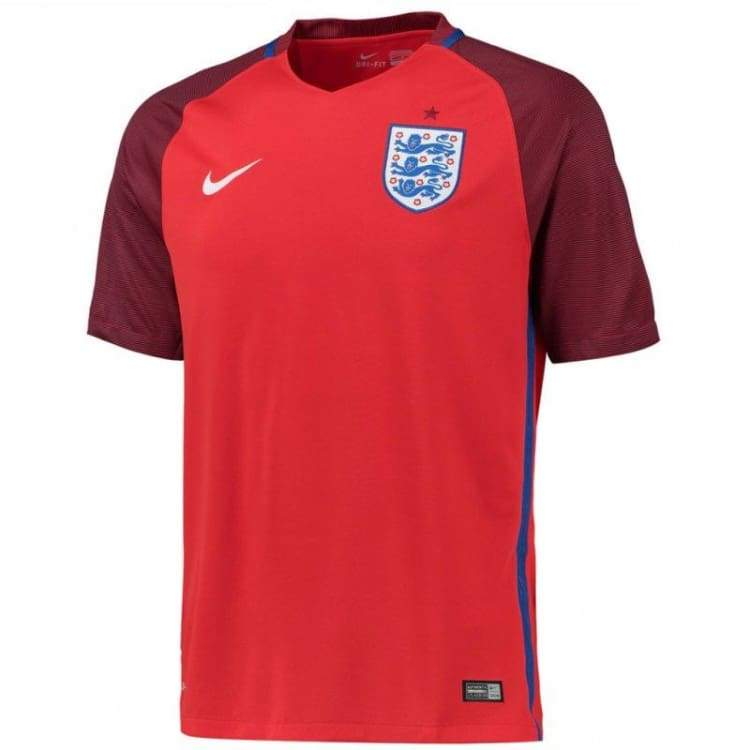 Jerseys / Soccer: Nike National Team Euro 2016 England (A) S/s Jersey 724608-600 - Nike / S / Red / 2016 Clothing England England (World