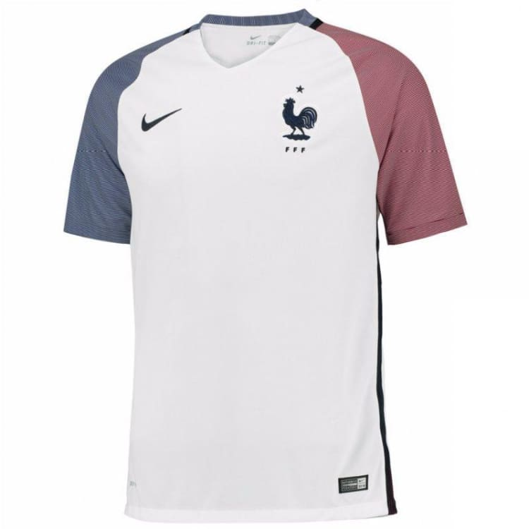 Jerseys / Soccer: Nike National Team Euro 2016 France (A) S/s Jersey 724614-100 - Nike / Xl / White / 2016 Away Kit Clothing Football France