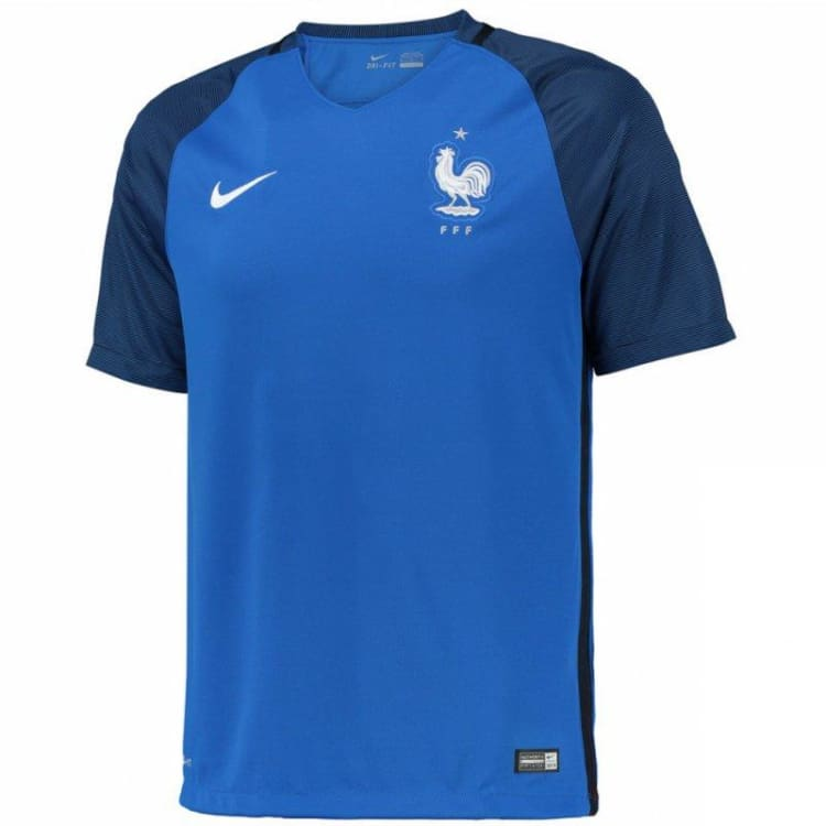 Jerseys / Soccer: Nike National Team Euro 2016 France (H) S/s Jersey 724615-439 - Nike / M / Blue / 2016 Blue Clothing Football France |