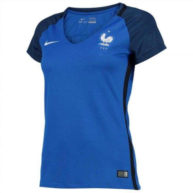 Jerseys / Soccer: Nike National Team Euro 2016 France (H) S/s Womens Jersey 724672-439 - Nike / Xs / Blue / 2016 Blue Clothing Football