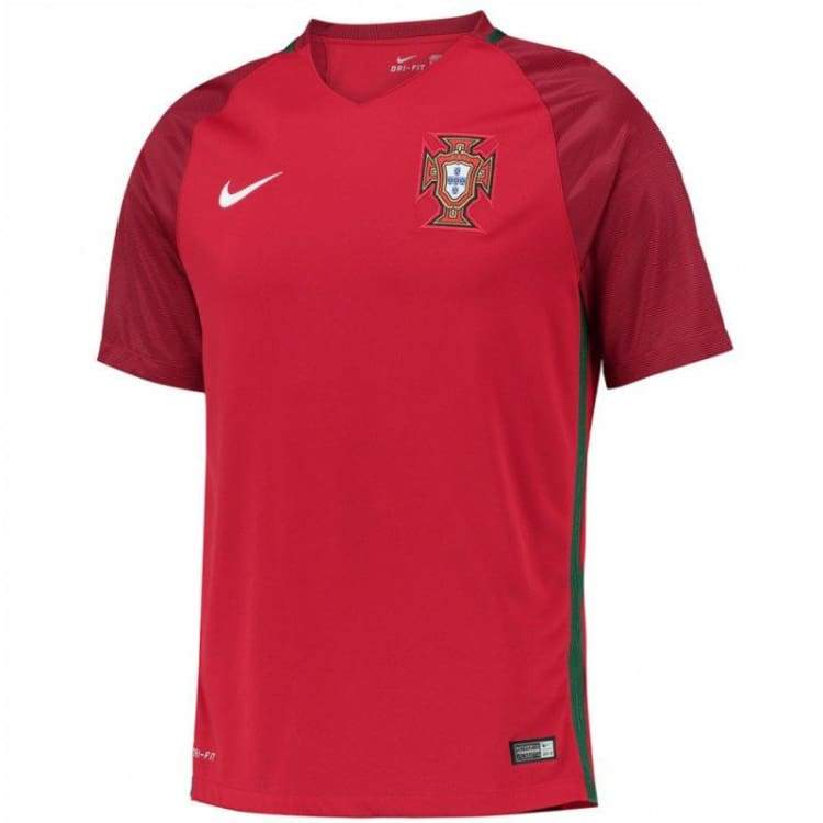 Jerseys / Soccer: Nike National Team Euro 2016 Portugal (H) S/s Jersey 724620-687 - Nike / Xl / Red / 2016 Clothing Cr7 Home Kit Jerseys |
