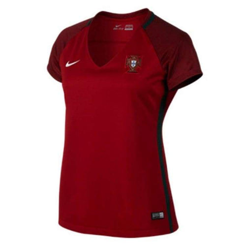 Jerseys / Soccer: Nike National Team Euro 2016 Portugal (H) S/s Womens Jersey 724676-687 - Nike / L / Red / 2016 Clothing Cr7 Football Home