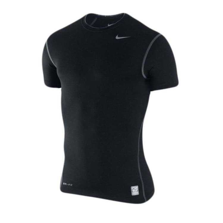 f44a601c2e4 Base Layers   Top  Nike Pro Combat Core Compression Shirt S s Black 269603