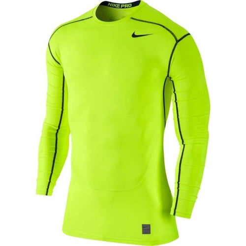 Base Layers / Top: Nike Pro Hypercool Compression L/s Top Gn 801231-702 - Nike / S / Yellow / Base Layers Base Layers / Top Clothing