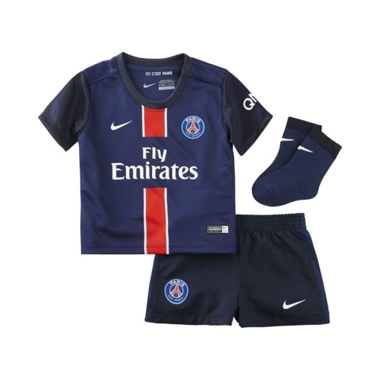 Jerseys / Soccer: Nike Psg 15/16 (H) S/s Baby Kit 658697-411 - Nike / Month: 3-6 / Navy / 1516 Clothing Football Home Kit Jerseys |
