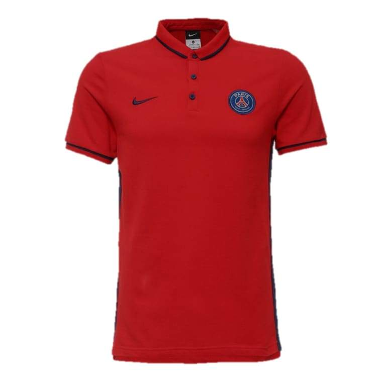 Polos / Short Sleeve: Nike Psg 16/17 Authentic League Polo 694586-657 - Nike / S / Red / 1617 Clothing Football Land Mens |