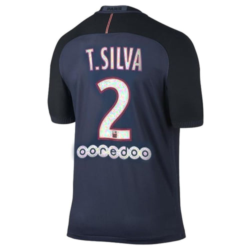 Jerseys / Soccer: Nike PSG 16/17 (H) Player S/S Jersey (#2 T.SILVA) 776926-410 - Nike / S / Navy / 1617, Clothing, Football, Home Kit,
