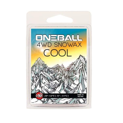 Waxing/ Snow Wax: Oneballjay 4Wd Cool 28-21F Snow Wax - 165G Fw1718 - Oneballjay / 1718 Gear Ice & Snow On Sale Oneballjay |