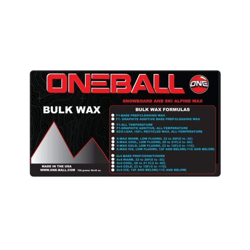 Waxing/ Snow Wax: Oneballjay White Bulk All Temp 750G Fw1718 - Oneballjay / 1718 Gear Ice & Snow On Sale Oneballjay | Occn-Whiteline-Wbw