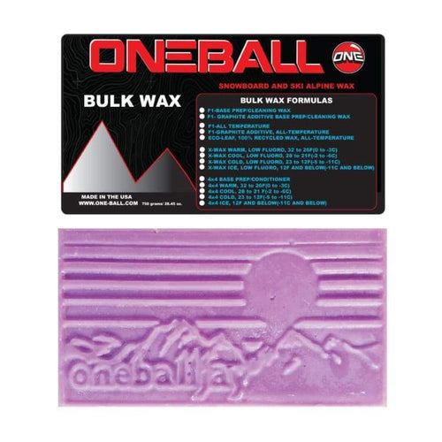 Waxing/ Snow Wax: Oneballjay X-Wax Cold Bulk 23-12F Snow Wax- 750G Fw1718 - Oneballjay / 1718 Gear Ice & Snow On Sale Oneballjay |