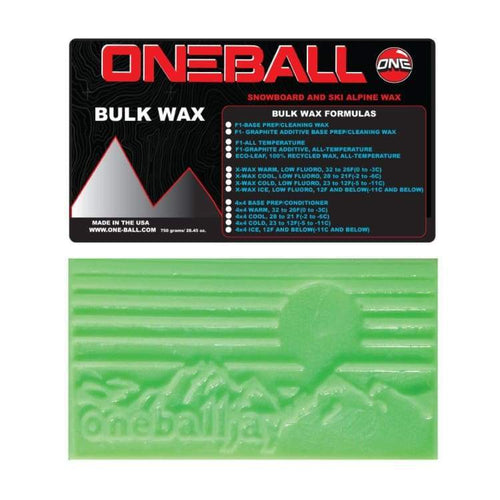 Waxing/ Snow Wax: Oneballjay X-Wax Cool Bulk 28-21F Snow Wax - 750G Fw1718 - Oneballjay / 1718 Gear Ice & Snow On Sale Oneballjay |
