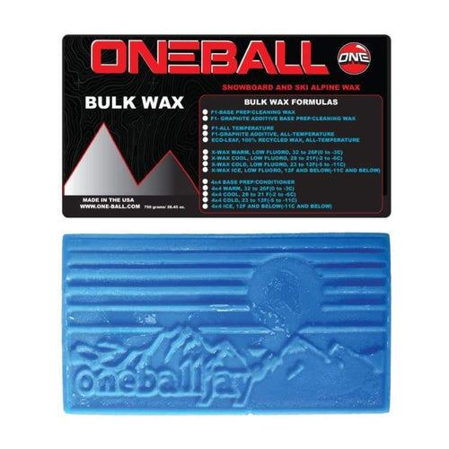 Waxing/ Snow Wax: Oneballjay X-Wax Ice Bulk 12F-Below Snow Wax - 750G Fw1718 - Oneballjay / 1718 Gear Ice & Snow On Sale Oneballjay |