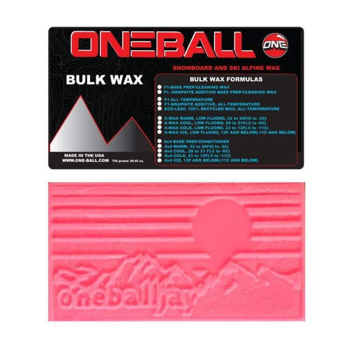 Waxing/ Snow Wax: Oneballjay X-Wax Warm Bulk 32-26F Snow Wax - 750G Fw1718 - Oneballjay / 1718 Gear Ice & Snow On Sale Oneballjay |