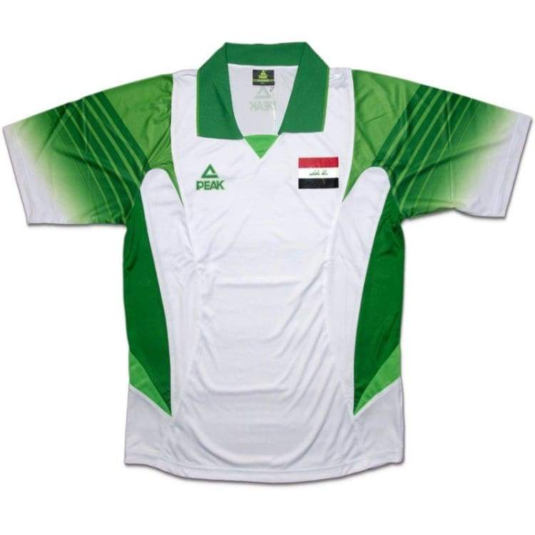 Jerseys / Soccer: Peak National Team Iraq 2009 (A) S/s Ifa02 - Peak / S / White / 2009 Away Kit Clothing Football Iraq |
