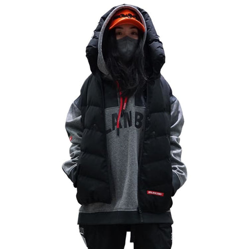 Jackets / Snow: PLANB PROJECT Down Vest Jacket (Japanese Brand) Black [Unisex] - PLANB PROJECT / S / Black / 2021, Black, Clothing, Ice &
