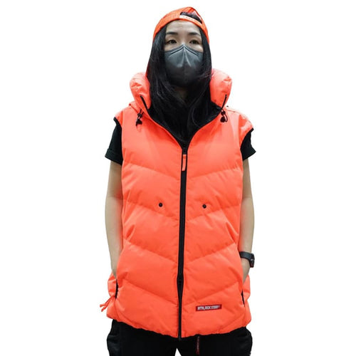Jackets / Snow: PLANB PROJECT Down Vest Jacket (Japanese Brand) Burning Orange [Unisex] - 2021, Clothing, Ice & Snow, Jackets, Jackets /