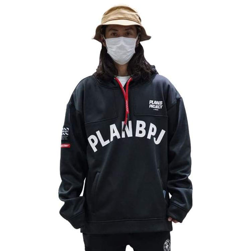 Hoodies & Sweaters: PLANB PROJECT M2 Waterproof Hooded (Japanese Brand) Black [Unisex] - 2021, Black, Clothing, Hoodies & Sweaters, Ice &