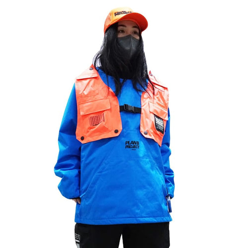 Jackets / Snow: PLANB PROJECT Piste Snow Jacket (Japanese Brand) Blue [Unisex] - PLANB PROJECT / S / Blue / 2021, Blue, Clothing, Ice &