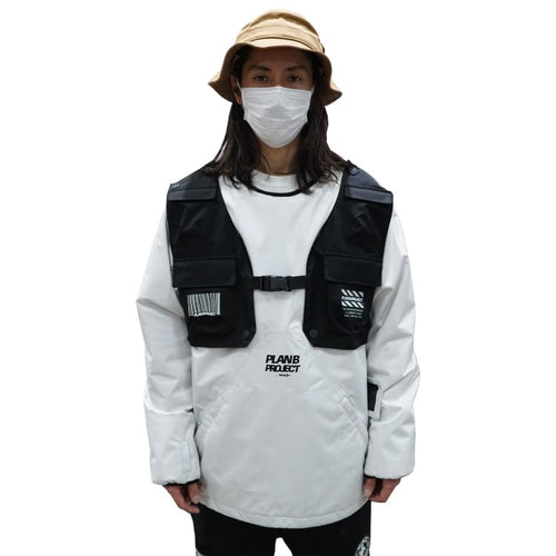 Jackets / Snow: PLANB PROJECT Piste Snow Jacket (Japanese Brand) White [Unisex] - PLANB PROJECT / S / White / 2021, Blue, Clothing, Ice &