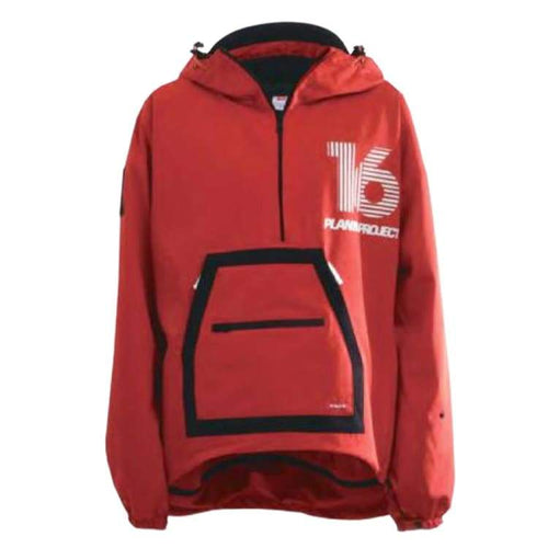Jackets / Snow: [ PRE-ORDER ] PLANB PROJECT Pullover Snow Jacket (Japanese Brand) Red [Unisex] - 1920 Clothing Ice & Snow Jackets Jackets /