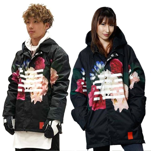Jackets / Snow: [ PRE-ORDER ] MARQLEEN COACH + JACKET (Japanese Brand) ML8002-995 [Unisex] - MARQLEEN ULTIMARA / S / Black Flower / 1920