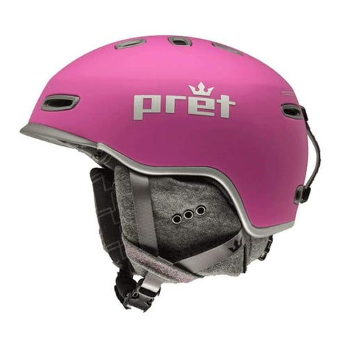 Helmets / Snow: Pret Lyric Rv Helmet 1819 - Rose Violet [Womens] - Pret / M / Rose Violet / 1819 Gear Helmets / Snow Ice & Snow On Sale |