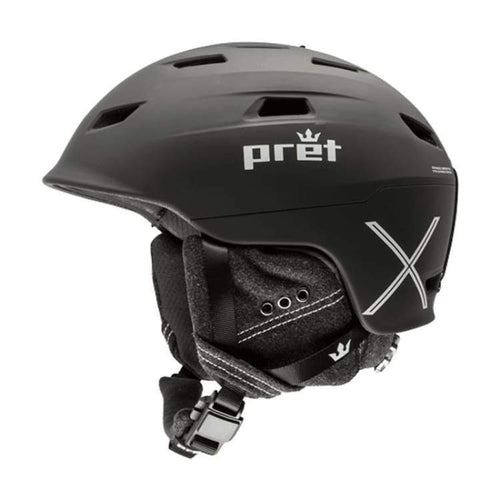 Helmets / Snow: Pret Refuge X Tb Helmet 1819 - Team Black - Pret / S / Team Black / 1819 Gear Helmets / Snow Ice & Snow Kids |