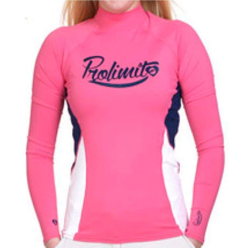 Rashguards & Tops: Prolimit Rashguard Pure Girl La - Rg15595Pl - Xs / Pink / Prolimit / Clothing Gear Pink Prolimit Rashguards & Tops |