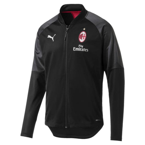 Jackets / Track: PUMA AC MILAN 2018 STADIUM JACKET 754864-01 - XS / Black / Puma / 2018 AC MILAN Black Clothing Jackets |
