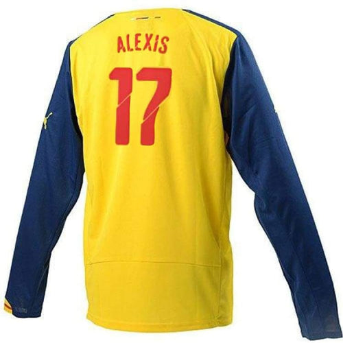 Jerseys / Soccer: Puma Arsenal 14/15 (A) L/S 746451-08 #17 ALEXIS - Puma / L / Yellow / 1415, ARSENAL, Away Kit, Clothing, Football |